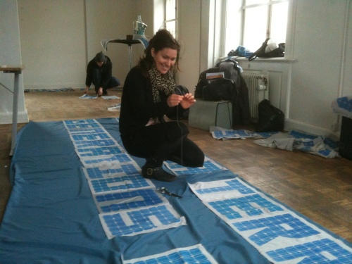 making banners in Copenhagen, December 11